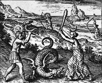 from Michael Maier's early 15th century series of alchemical copper engravings, 'Atalanta Fugiens'